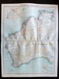Bartholomew 1922 Large Map. Australia, Western Section.